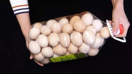 空油桶如何装鸡蛋?姑娘亲身演示,方法原来这么简单,太实用了
