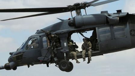 为啥美国大兵坐直升机,总是把腿伸到舱门外边,不怕掉下去?