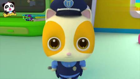 猫咪抓住了偷糖果的坏蛋宝宝巴士动画片