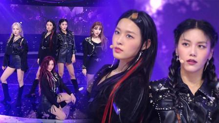 AOA回归人气歌谣新舞台,一袭黑衣又美又飒的姐姐们