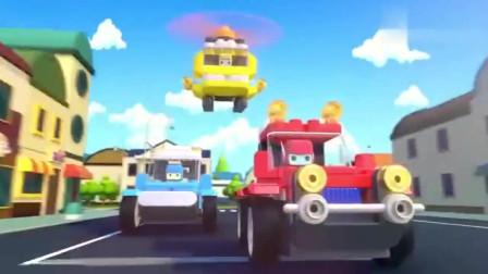 百变布鲁可弗兰克的车失控,车在街上横冲直撞,这样太危险了