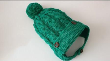 儿童护耳帽,花样款式俱佳,片织、缝合、扎帽顶,哈哈,大功告成