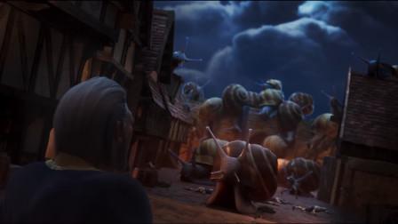 动漫:士兵嫌巨型蜗牛进攻太慢,于是在城楼上打牌,结果悲剧了