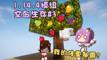 我的体重暴露了?树上不仅会结草莓还会掉羊?原版多模组空岛生存P3【五歌】