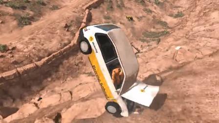 车祸模拟:转弯开太快又撞了