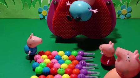 猪妈妈买了彩虹床,猪爸爸躺上面把佩奇乔治挤了下去,猪妈妈会怎么办呢?