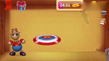踢巴迪游戏:先用英雄盾牌对付巴迪,再让他玩记忆游戏
