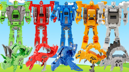 钢铁飞龙2之奥特曼崛起变形蛋和恐龙变形机器人玩具大合集
