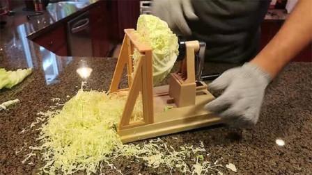 日本人有多挑剔?为了吃包菜丝而发明这机器!网友:刀工不到位!