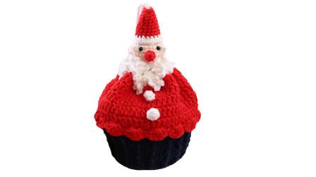 134 第4集 甜甜甜手工 圣诞老人蛋糕包 纸杯蛋糕包编织方法