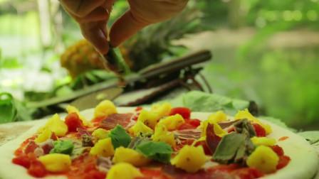 手工制作夏威夷披萨