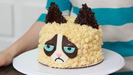 厉害了!牛人直接把蛋糕做成了发脾气的猫,这创意我给满分!
