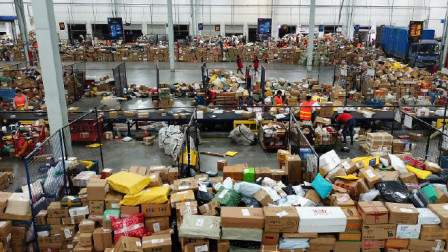 邮政局:邮政、快递企业双12揽收邮(快)件4.01亿件