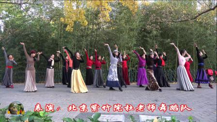 紫竹院广场舞《板蓝花儿开》,温婉大气,美到心醉!