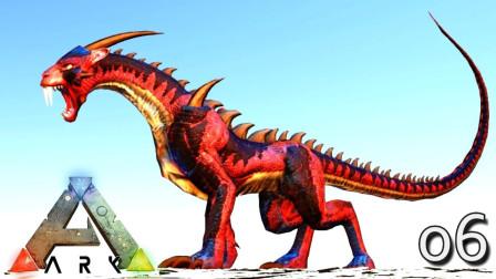 方舟生存进化手游国际服罗修:徒手撸倒大树 追着龙揍!