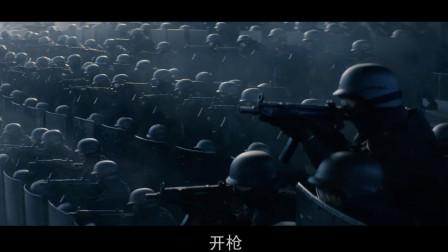 这才是训练有素的防爆,每层盾牌后面一层枪手