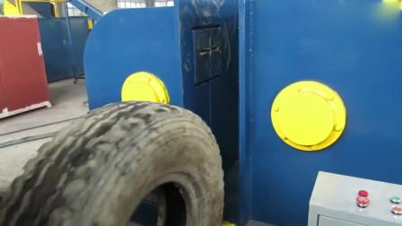 原来废旧轮胎中的钢丝这么容易取出,难怪那么多人抢着要