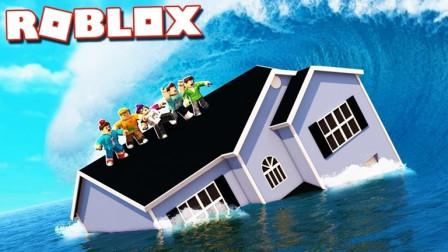 roblox阿火解说 第一季 水灾模拟器 这就是比谁爬得高的游戏
