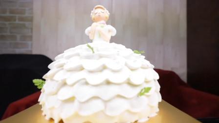 新娘造型的奶油蛋糕,就像是一款艺术品,吃上一口太幸福了