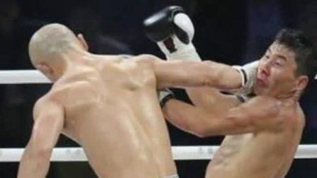 河南电视台武林风直播 11秒KO 武僧一龙创造武林风最快KO记录