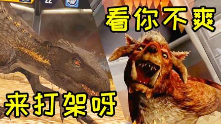小鸢解说 侏罗纪世界1707暴虐迅猛龙vs古巨半犬,猜猜谁获得了胜利 侏罗纪世界★恐龙公园