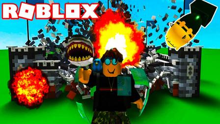 roblox拆房子模拟器:TNT只用10秒钟拆光国王的城堡!