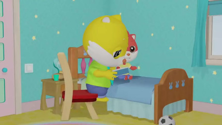快乐摩登:摩登给爸爸讲故事,准备午睡,但丽丝还在哭
