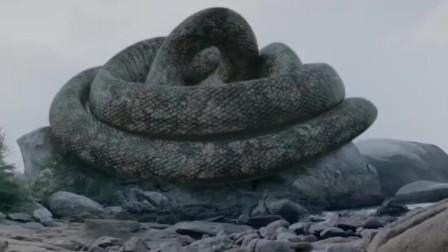 海边惊现巨蛇活吞村民,父亲为救女儿与怪兽博斗!