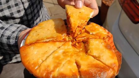 孟买街头,印度特色做法,填鸭式馅饼