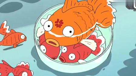 蜡笔小新:大家去捞金鱼,小新捞到最大的闭眼金鱼!