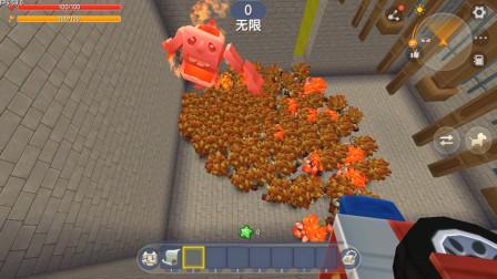 迷你世界:巨型怪物VS一群野人,双方不相上下,最后怪物逆袭获胜