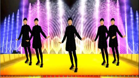 经典校园歌曲《外婆的澎湖湾》弹跳32步,欢快活力健身舞