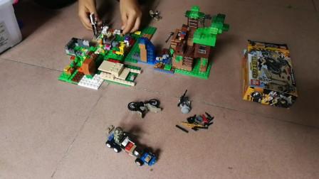 乐高积木玩具 吃鸡积木拼装好玩的益智玩具