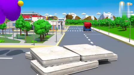 拖拉机做了一个好大的披萨儿童3D卡通动画