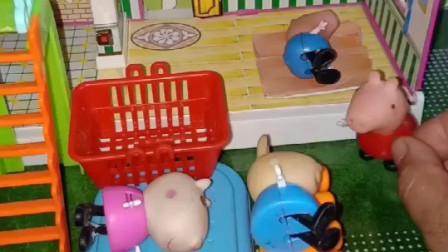 佩奇想睡觉了,小朋友们把位置都占了,没人和佩奇一起睡!