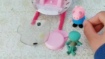 乔治给小羊苏西搬家,直升机坏了,豌豆射手给他修好了直升机!