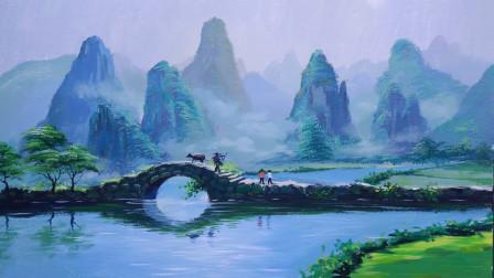 (六)绘画干货分享,如何绘制漂亮山水画?看完你觉得画画难么