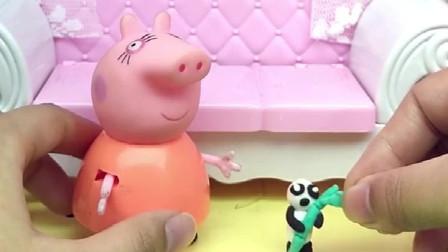 猪妈妈起床了,猪妈妈的宝宝不见了,找了半天才到的佩奇乔治