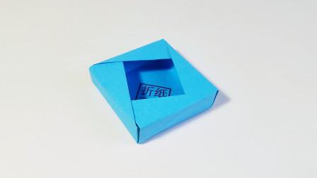 折纸王子大全 简单折纸 折纸方巾盒子,儿童亲子手工,简单易学
