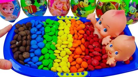 萌宝最爱玩的彩虹豆豆儿童益智玩具,比起太空沙你更喜欢哪个