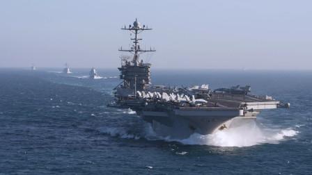 美国航母海峡秀肌肉?战舰发射核警告: 敢闯红线立刻击沉