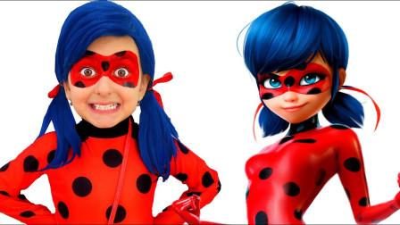 国外小女孩创意仿妆,可爱的瓢虫小姐姐,你猜到是谁了吗?