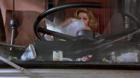 白头神探3:母司机上路!大家一定要回避,看她的方向盘有多大!
