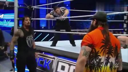 体育频道wwe WWE 雷恩斯暴打哈珀 杀得兴起 与安布罗斯毁灭怀亚特家族