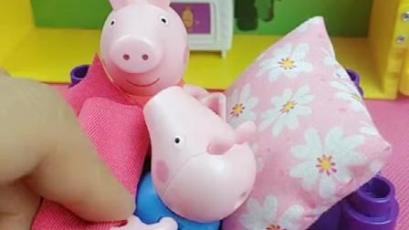 乔治睡觉喜欢蹬被子,小朋友们,你们知道佩奇为什么感冒了吗?