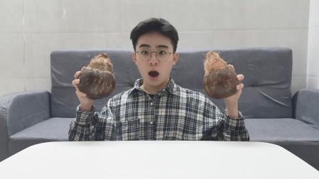 小伙试吃椰汁煮米饭,到底会是什么味道