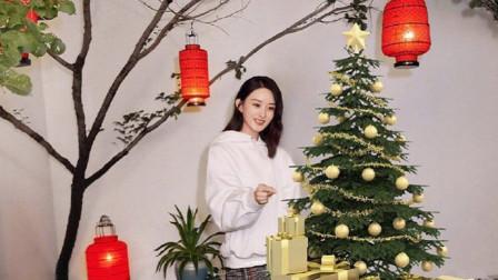 赵丽颖冯绍峰同框拍广告,粉丝调皮把冯绍峰P成圣诞树!