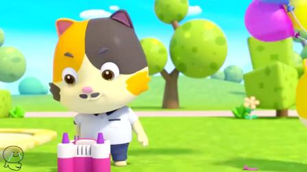 儿童动画幼儿儿歌,幼儿歌谣,乐乐的生日蛋糕车飞走了