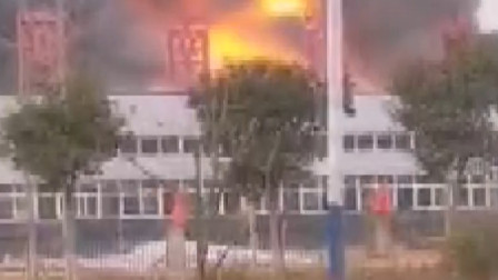 河南一公司发生火灾,现场浓烟滚滚,具体情况正在调查