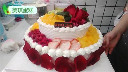 """女友生日,我定做创意蛋糕""""白天鹅"""",女友看见了,非常开心!"""